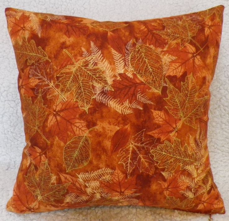 Autumn Leaves Cushion Cover, Brown Cushion Cover, Fall Cushion Cover, Gold Cushion Cover, Living Room, Conservatory, Gifts for Her by C4Cushions on Etsy