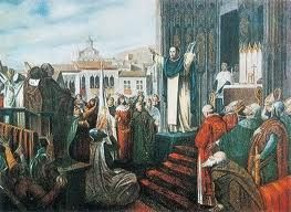 Compromiso de Caspe - El cambio de dinastía en Aragón se produjo mediante el Compromiso de Caspe, cuando a principios del siglo XV se votó a Fernando de Antequera, de la familia de los Trastámara, como rey de Aragón.