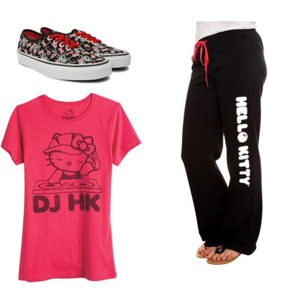 Hello Kitty Work out, created by hellokitting on Polyvore