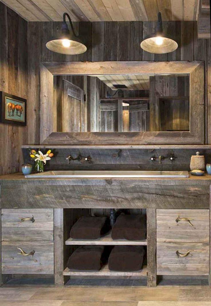 40 Stunning Rustic Bathroom Design Ideas