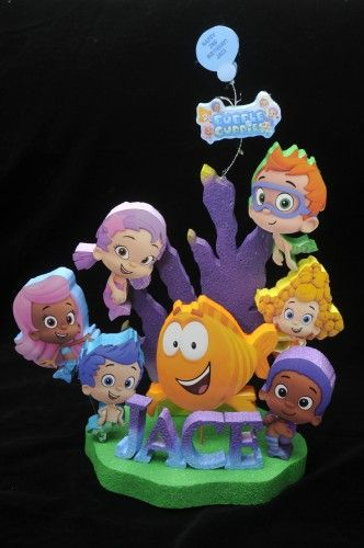 bubble guppie cake topers | BUBBLE GUPPIES BIRTHDAY CAKE TOPPER | Adianezh - Seasonal on ArtFire