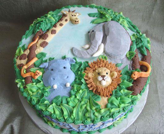 Cake Designs Jungle : animal birthday cakes ... birthday cake jungle designs ...