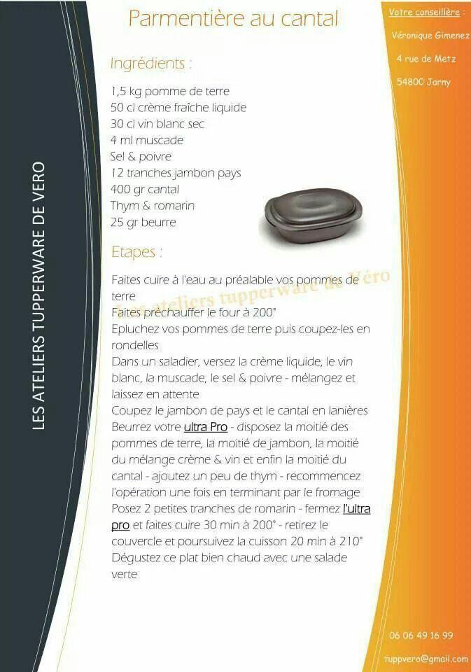 Tupperware - Parmentière au cantal