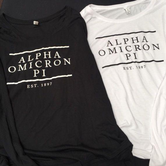 Potential t-shirts?  Alpha Omicron Pi tshirt 8852 puissent sororité par LoyalTeeInc