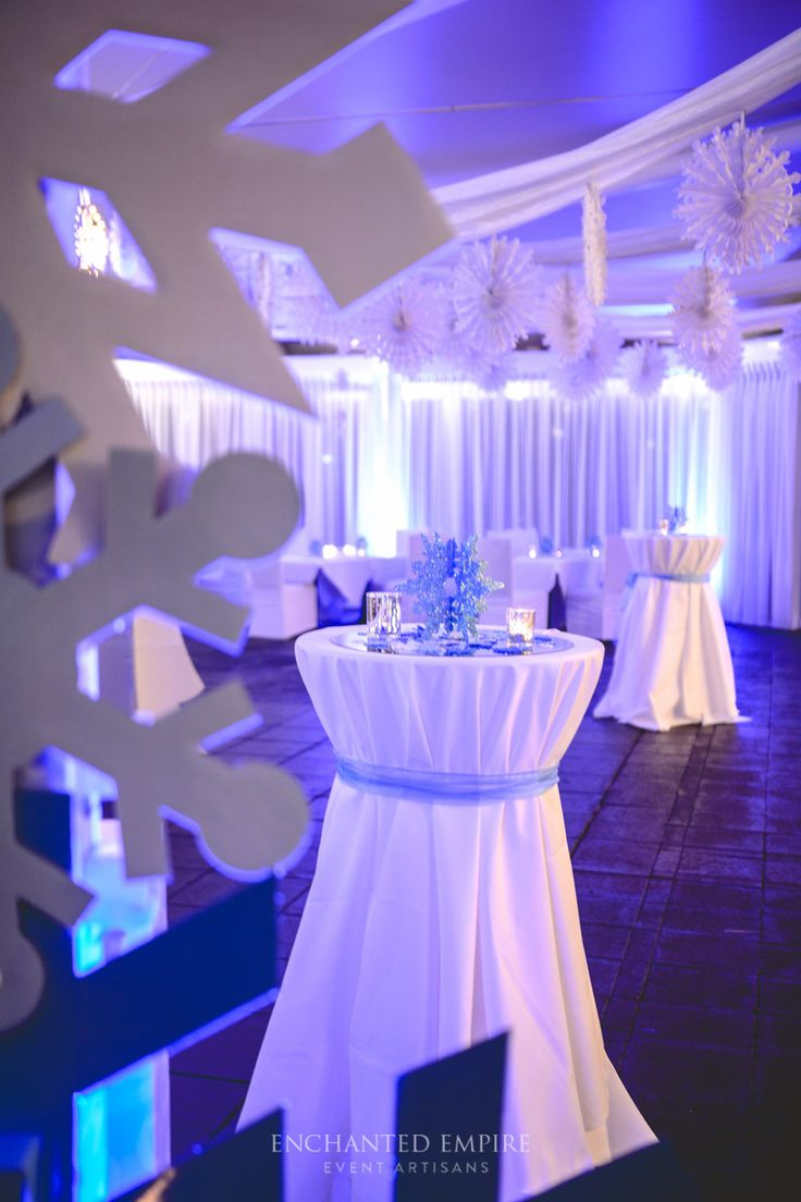 winter wonderland wedding south africa%0A This Corporate Christmas Party was one filled with wonder  Beautiful crisp  blue tones   silver