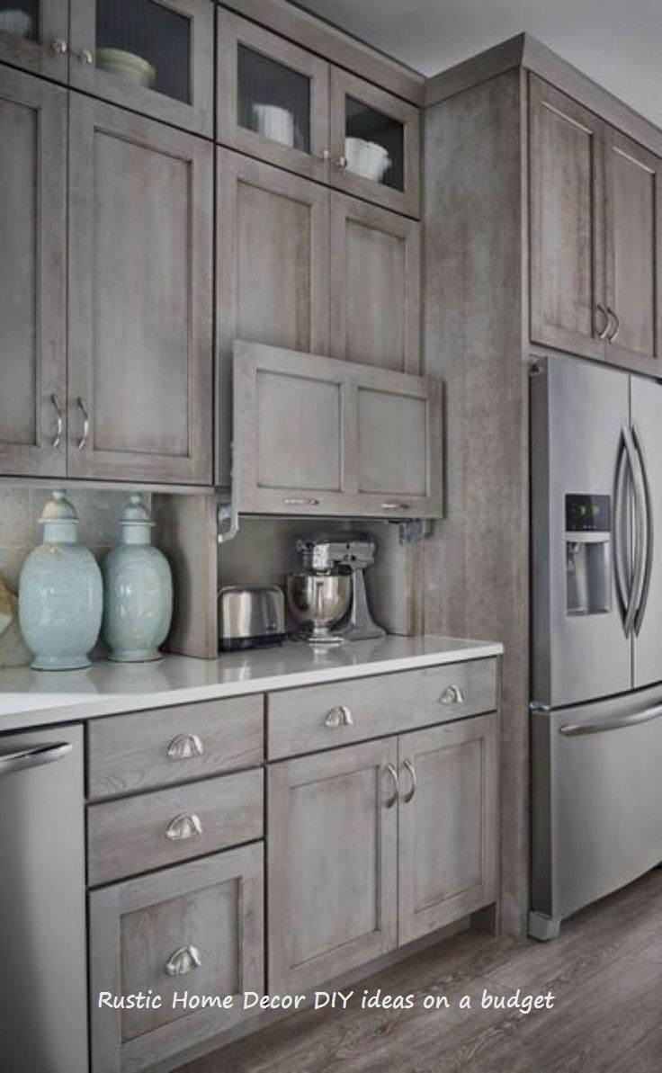 Easy To Do Home Diy Rustic Ideas Rustichomedecor Rustic New Kitchen Cabinets Rustic Kitchen Cabinets Kitchen Renovation