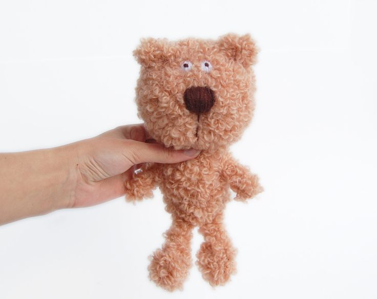 Amigurumi Crochet Bear stuffed animal for kids eco-friendly toy by RomeoShop on Etsy