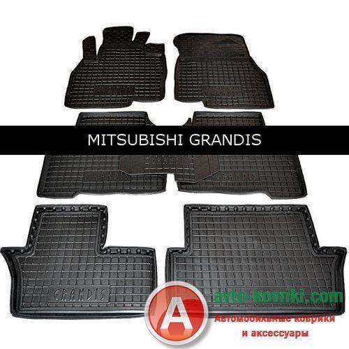 Автомобильные коврики для Mitsubishi Grandis 7 мест от Auto Gumm в салон