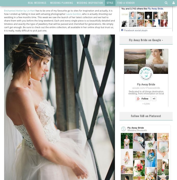 Photography LAURA GORDON / Accessories & headpieces ENCHANTED ATELIER BY LIV HART / Gown SAMUELLE COUTURE / Rings TRUMPET & HORN / Make-up ASHLEE GLAZER / Hair stylist NIKKI AVANZINO / Model NATALIA WOWCZYKO / Location LYNDHURST CASTLE / Film scans PHOTOVISION  http://flyawaybride.com/liv-hart-2016-collection/