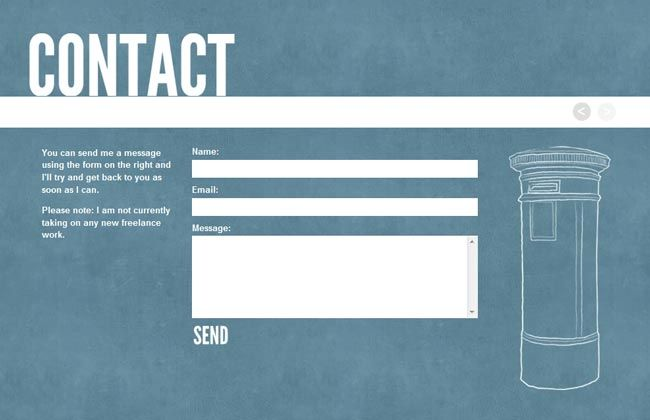 25 Amazingly Creative Contact Forms (scheduled via http://www.tailwindapp.com?utm_source=pinterest&utm_medium=twpin&utm_content=post16453628&utm_campaign=scheduler_attribution)