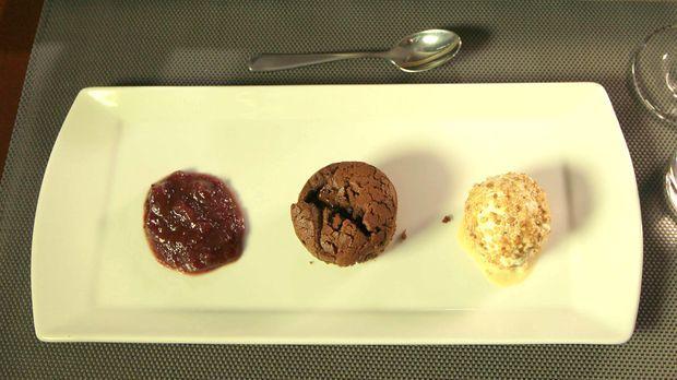 Flüssige Schokolade im Inneren macht diesen Muffin unwiderstehlich.