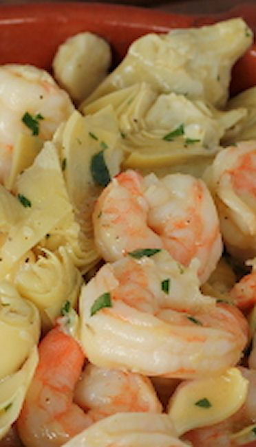 Marinated Shrimp and Artichokes. Marinated overnight in a wonderful tarragon mustard vinaigrette.