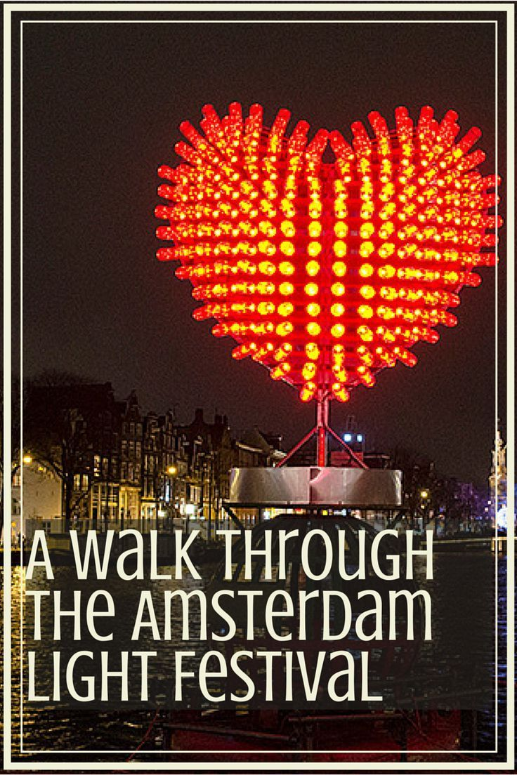 A Walk Through The Amsterdam Light Festival | #amsterdam #travel #holland | http://www.awanderlustforlife.com