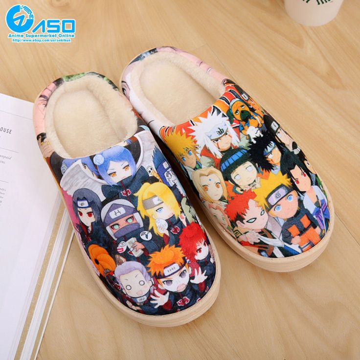 Japan Anime Naruto Series Winter Warm Soft Plush Antiskid Indoor Home Slippers | Collectibles, Animation Art & Characters, Japanese, Anime | eBay!