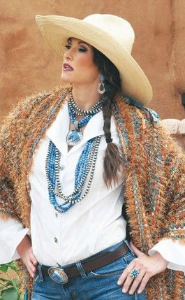Rocki Gorman- love the shawl, and of course her jewelry