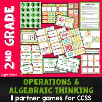 2nd Grade Operations & Algebraic Thinking: 11 Math Partner Available in other grade levels!