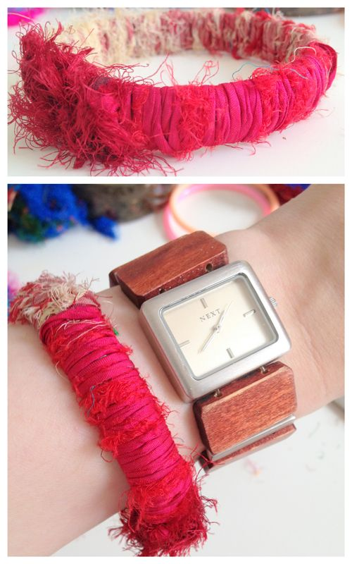 101 best images about Yarn and Fabric Bracelets Handmade ...