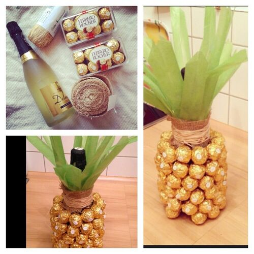 37 Diy Home Gifts That Looks Expensive: Pineapple Ferrero Roche