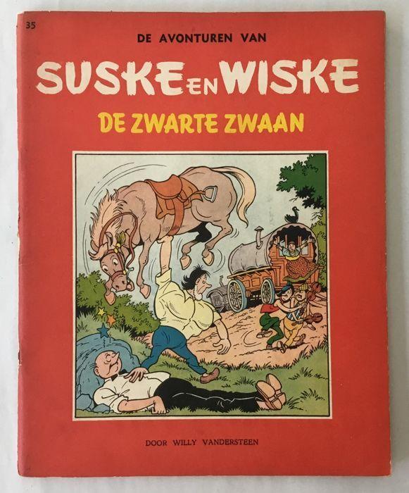 Suske en Wiske RV-35 - De Zwarte Zwaan - sc - 1e afdrukken (1959)  Dekking van de conditie: zeer goede overall - dekking is gekoppeld aan boek.Boek staat: zeer goed overall.Zie foto's voor meer detail.  EUR 1.00  Meer informatie