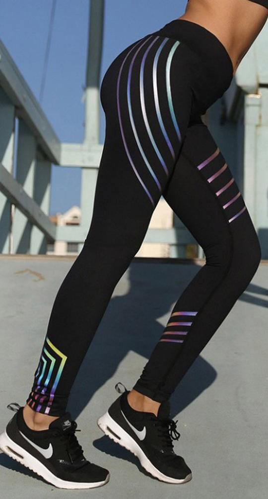 681c9de60e5c2 Workout Outfit Ideas Glow in the Dark Leggings for Women for Teen Girls in Black  Cute Hot Fashion - www.GlamantiBeauty.com #outfits