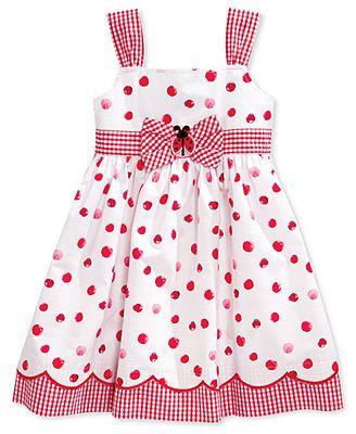 Blueberri Boulevard Little Girls' Lady Bug Sundress