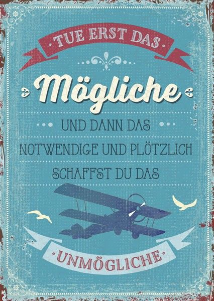 Postkarte - Tue erst das Mögliche