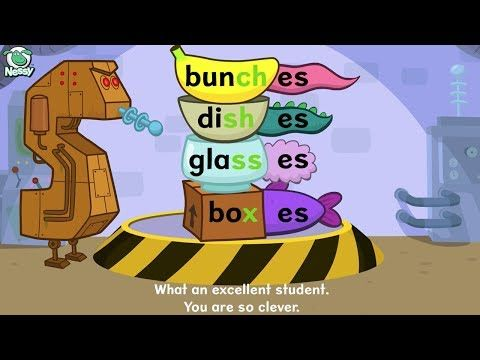 Nessy spelling strategy - when do plurals use 's' or 'es' - YouTube