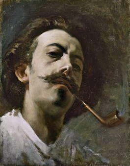 "Lorenzo Casanova Ruiz, ""Autorretrato"", 1866, óleo sobre lienzo, 36 x 28 cm"