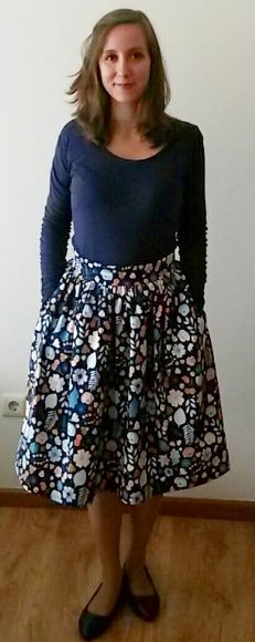 Ines's Clemence skirt - sewing pattern in Love at First Stitch