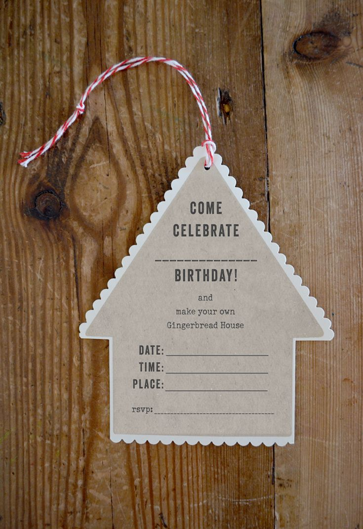 printable horse birthday party invitations free%0A Easiest Gingerbread House Party Ever