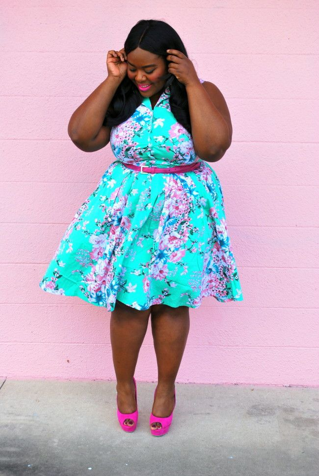 Musings of a Curvy Lady, Plus Size Fashion, Fashion Blogger, Black Girls Who Blog, Floral Print, Spring Outfit, Women's Fashion, OOTD, Unique Vintage, #IAmUnique, #UniqueVintage