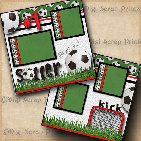 SOCCER ~ 2 premade scrapbook pages paper piecing BOY GIRL LAYOUT ~ BY DIGISCRAP | Crafts, Scrapbooking & Paper Crafts, Pre-Made Pages & Pieces | eBay!