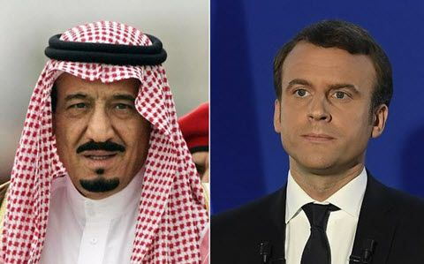 December 24, 2017 Reuters: President of the French Republic, Emmanuel Macron condemned the attempt by the Houthi militias to target Riyadh in a telephone call with Saudi Arabia's King Salman bin Abdulaziz. The French president expressed the solid...