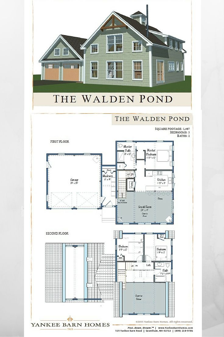 good small barn home plans #1: Walden Pond. Small BarnsSmall HousesEnergy ...
