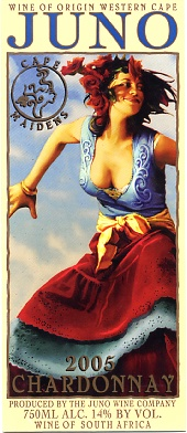 Juno Winehouse & art studio, Cape maidens, beautiful wine labels