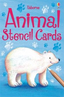 Animal stencil cards  A box of sturdy stencil cards with over twenty simple animal shapes to choose from. Shapes include elephants, turtles, crocodiles, monkeys and rabbits. Easy to use and perfect for home-made cards, pictures and all manner of activities.