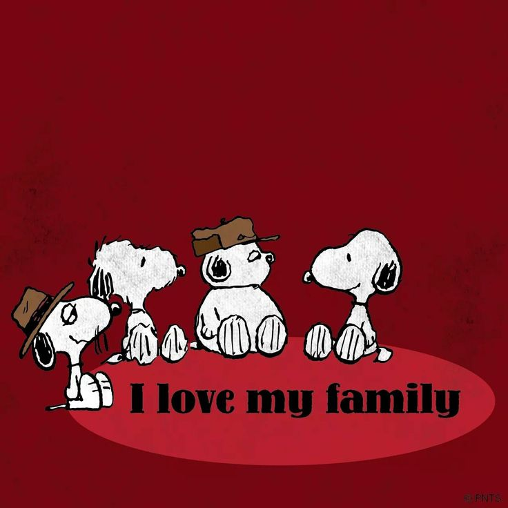 Snoopys family, so cute