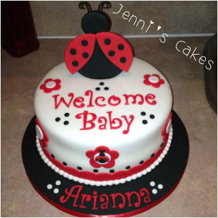 best ladybug isa images on   lady bug, parties and, Baby shower invitation