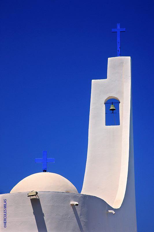Aghios Nikolaos church, overlooking Potami beach, in Karlovasi on Samos island