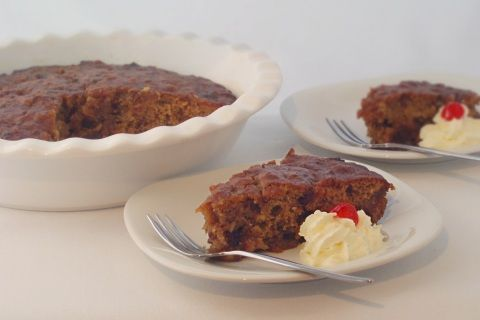 Cape Brandy Pudding / Tipsy Tart. This is a really easy, divine dessert and can be made ahead and re-heated.