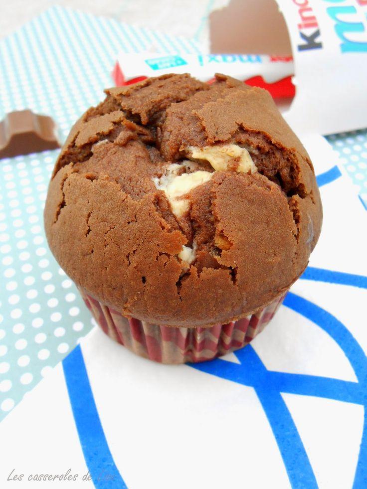 """La recette que vous avez préférée et donc 1ere du top 10 de mon ancien blog """"les casseroles de Lise"""" revient au Muffin au Kinder u..."""