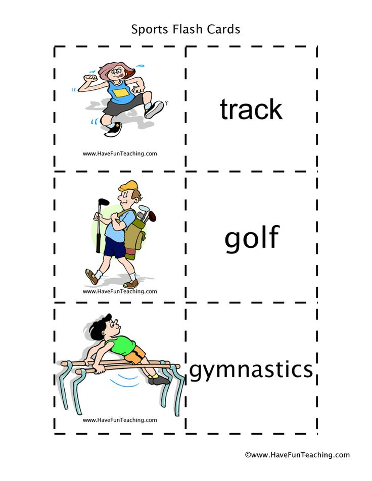 Sports Flash Cards in 2020 (With images) Have fun