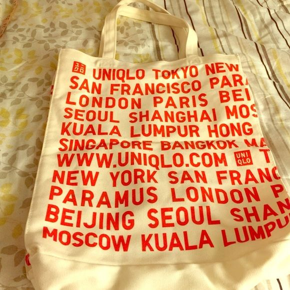"""Uniqlo tote bag New Uniqlo gift bag New. height 16"""" width 4"""" length 13.5"""" handle 8.25"""" (center from top) UNIQLO Bags Totes"""