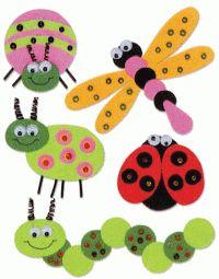 bricolage insectes | Autocollants insectes chez Deco@avenue - Univers Créatif