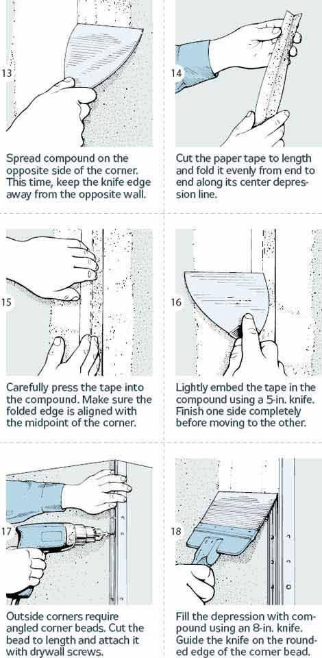 how to finish drywall next to wood beams
