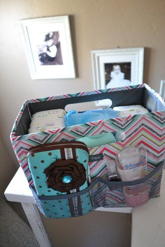 The Thirty One Fold n File may be an office necessity, but it can also double as the cutest bin for all baby needs!