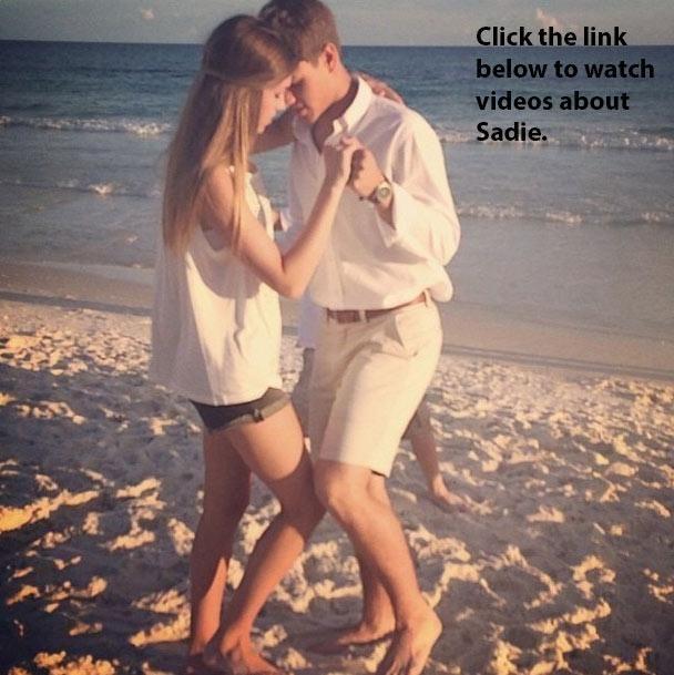 Sadie with her boyfriend Blake.>>>>>>awwwwwwww dancing on the beach <3