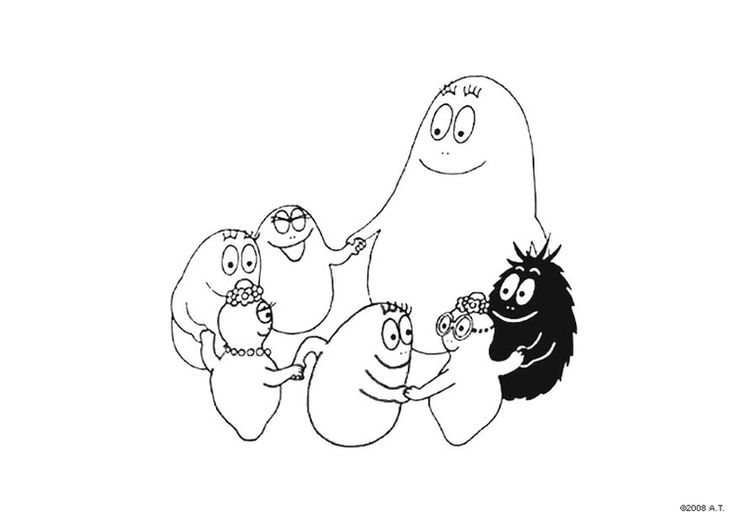 112 Best Barbapapa Coloring Pages Images On Pinterest
