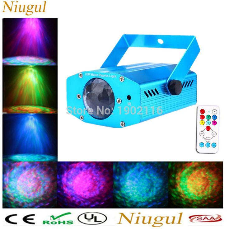 Mini aluminium alloy Remote RGBW LED Water Wave Ripple Disco Stage Light Party Pattern Lights Show dj Projector background lamp