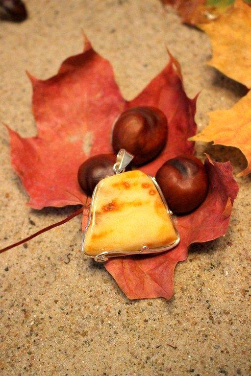 Handmade Yellow Baltic Amber Pendant-Poland by MagsAmber on Etsy